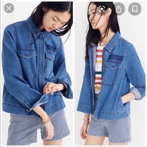 Madewell Denim Army Swing Zico Jacket